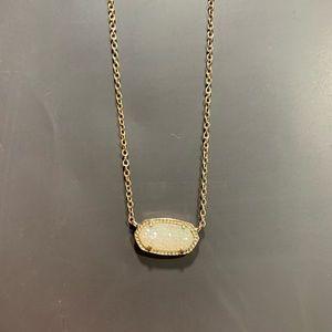 Kendra Scott Iridescent Druzy Gold Pendant